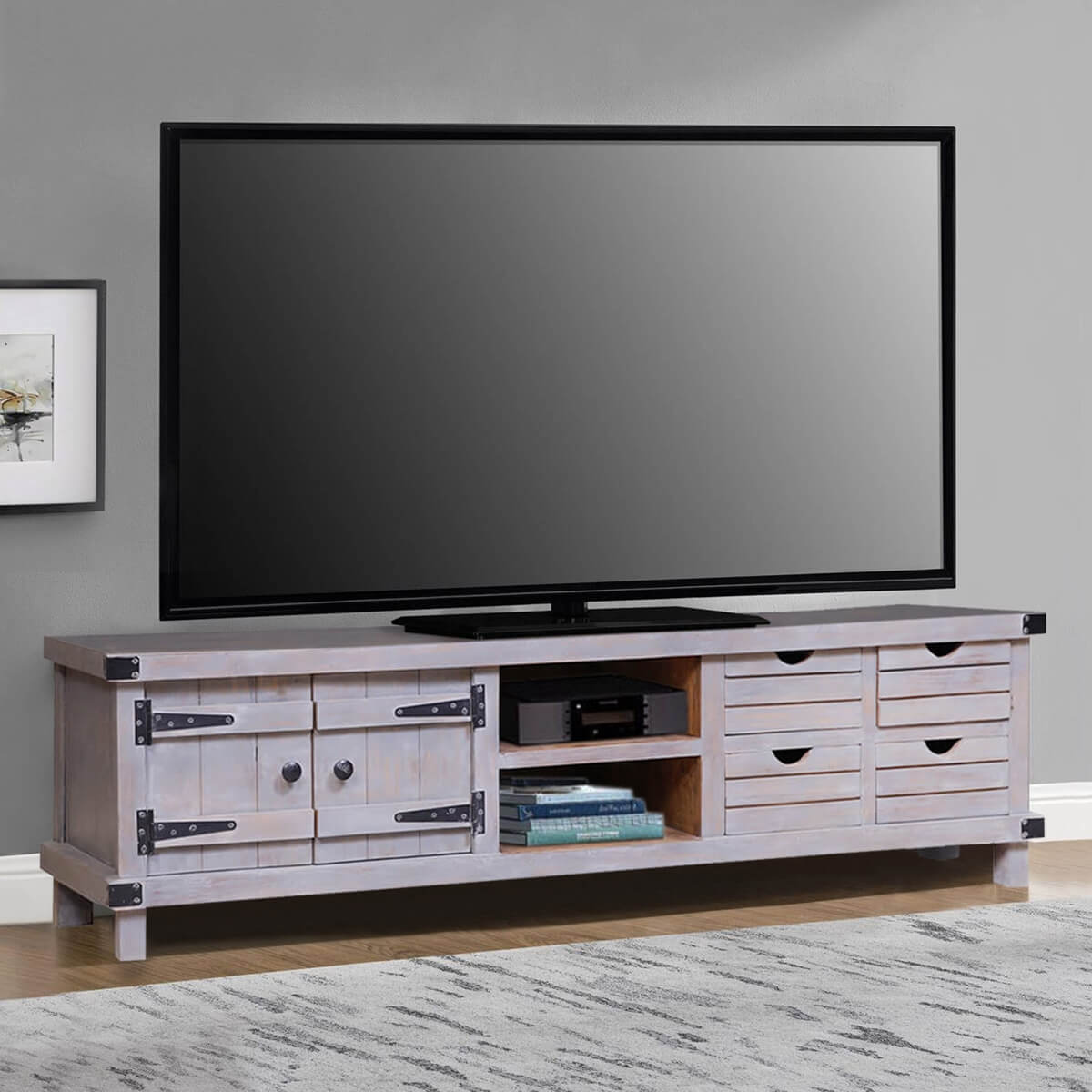 Gibsland Unique Reclaimed Wood Furniture Media Console TV Stand