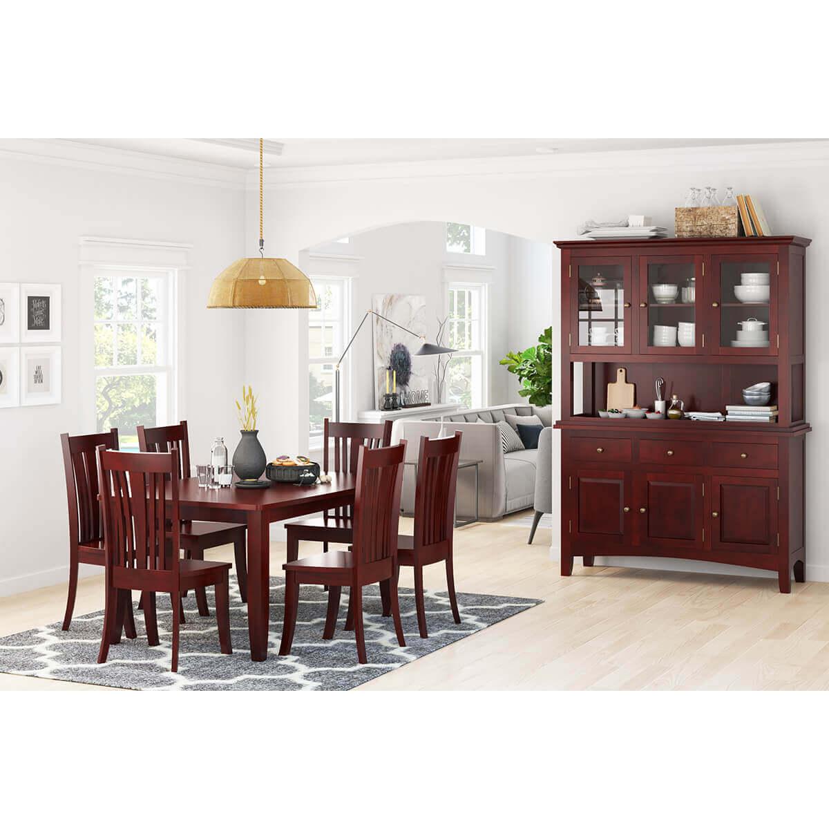 barryton solid mahogany wood 8 piece dining room set. Black Bedroom Furniture Sets. Home Design Ideas