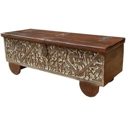 Lincoln Study Double Scroll Mango Wood Coffee Table