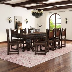 Large Rustic Dining Room Table rustic lincoln study large dining room table chair set for 10 people