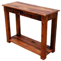Wood Mission 2 Storage Drawer Sofa Hall Console Table