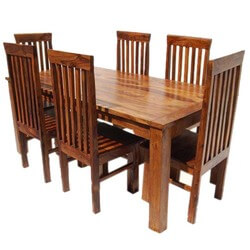 Lincoln Study 7 Piece Dining Table & Chair Set