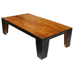 Rustic Railroad Ties Large Heavy Cocktail Coffee Table