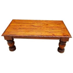 Altha Mango Wood Carved Edge Large Cocktail Coffee Table