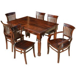 Lincoln 7 Piece Contemporary Dining Room Table and Barrel Chair Set