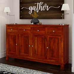 Rustic Solid Wood Storage Chest Sideboard & Buffet Cabinet
