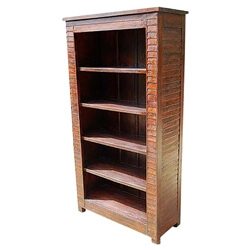 Solid Wood Large 5 Shelves Bookcase Book Shelf Armoire