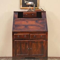 Solid Wood Study Writing Drop Front Desk Table