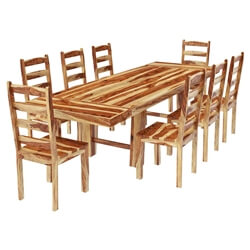 Bluffton Classic Solid Rosewood Extension Dining Table & Chairs