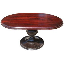 Sutton Oval Indian Rosewood Pedestal Dining Table
