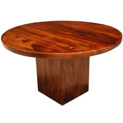 Sierra Modern Indian Rosewood Square Pedestal Round Table