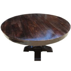 Round Dining Table Pedestal Style Made In Pure Solid Wood