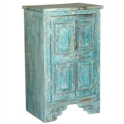 Nottingham Rustic Reclaimed Wood Accent Storage Mini Cabinet