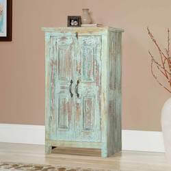 Bankston Distressed Reclaimed Wood 2 Door Storage Cabinet