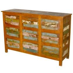 rustic reclaimed wood weathered 9 drawer dresser furniture