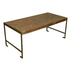 Philadelphia Modern Rustic Reclaimed Wood Industrial Dining Table