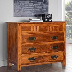 Santa Fe Mission Solid Wood Traditional 3 Drawer Dresser