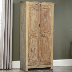 Rustic Solid Reclaimed Wood Storage Armoire Cabinet