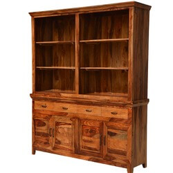 Modern Country Breakfront Solid Wood Dining Hutch