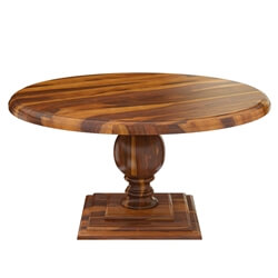 "Cloverdale Solid Wood Pedestal 60"" Round Dining Table"