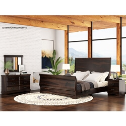 Sleigh Back 7 Piece Bedroom Collection