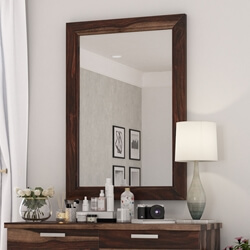 Hampshire Solid Wood Modern Rustic Mirror Frame