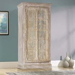 Williston Winter's Dream Solid Mango & Reclaimed Wood Tall Cabinet