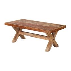 "Picnic Style 47"" Mango Wood Rustic Coffee Table"
