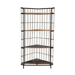 "Open Triangle 58"" Iron Rolling Corner Display Rack"