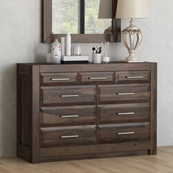 Sierra Nevada Handcrafted Solid Wood 9 Drawer Horizontal Dresser