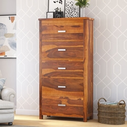 Flagstaff Handcrafted Solid Wood 5 Drawer Bedroom Chest