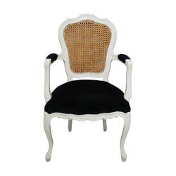 Barrington Traditional Solid Wood Woven Back Arm Chair