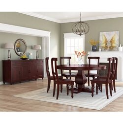 Arenzville Solid Mahogany Wood 8 Piece Dining Room Set