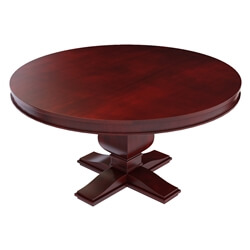 Arenzville Solid Mahogany Wood Pedestal Round Dining Table