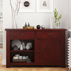 Garcia Solid Mahogany Wood 2 Drawer Sideboard Cabinet