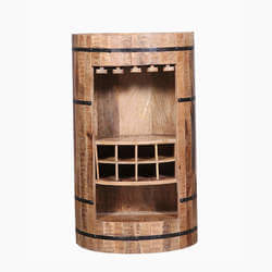 Addison Handcrafted Reclaimed Wood Wine Bottle Storage Bar Cabinet